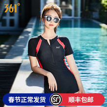 361 degree swimsuit women's conservative professional sport 2018 new short-sleeved hot spring conjoined flat-angle slim swimsuit
