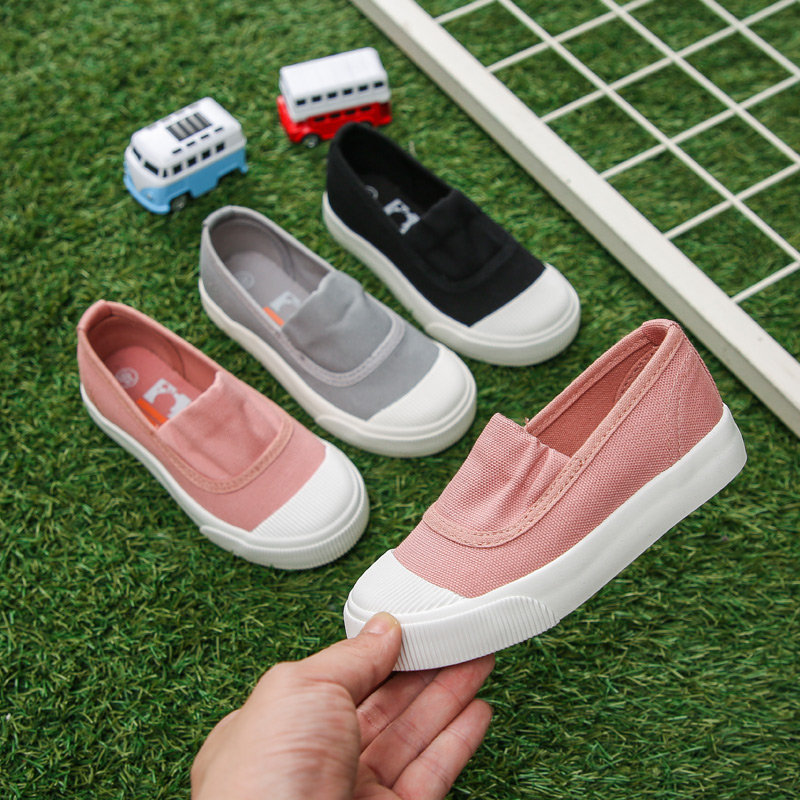 2021 spring new childrens shoes childrens Canvas Shoes Boys Board Shoes girls kindergarten students small white shoes trend