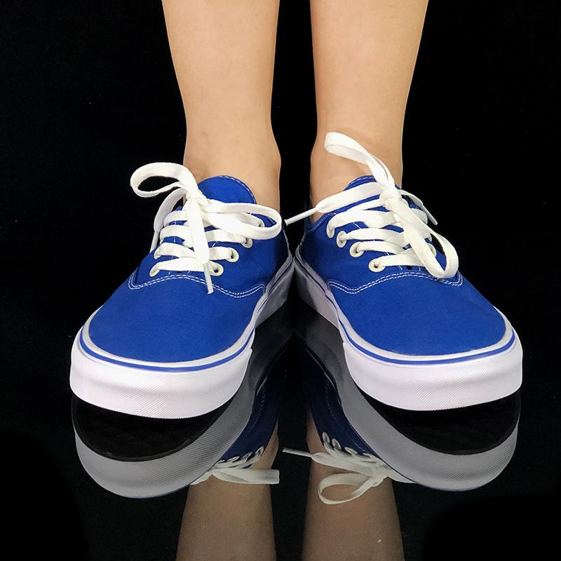 满99元可用20元优惠券vansеpol万斯堡情侣款帆布鞋学生韩版低帮蓝色涂鸦男女鞋潮鞋