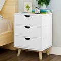 简约现代北欧实木床头柜经济型储物柜简易卧室收纳柜床边柜