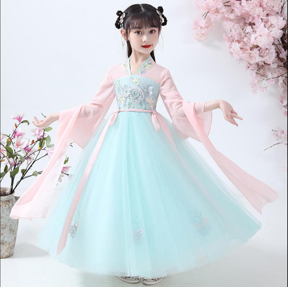 Girls Hanfu Chinese style super Xianru skirt autumn dress girls summer dress 12-year-old childrens ancient dress skirt
