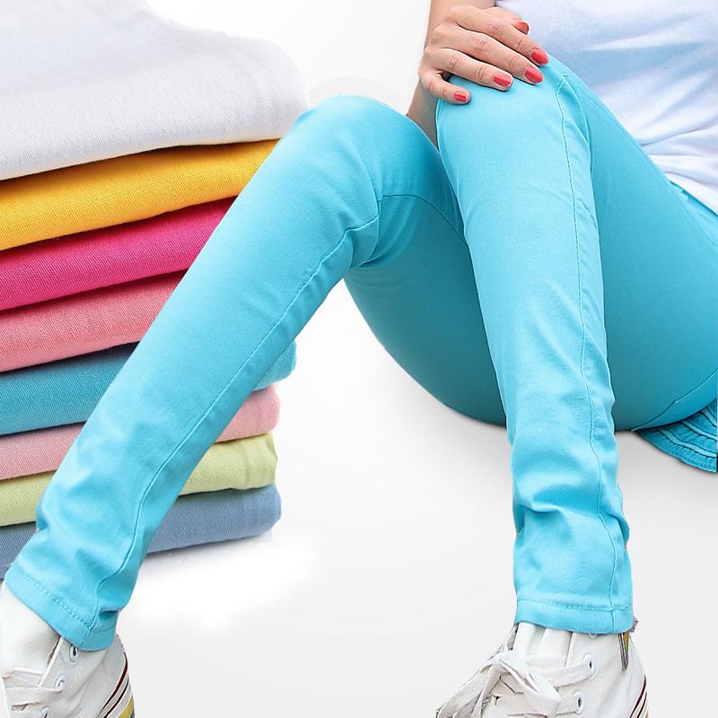 小脚裤女2018新款外穿打底裤薄款显瘦百搭韩版彩色裤子女铅笔长裤