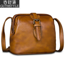 Retro bag lady cowhide Doctor Bag Leather Lady Bag Mini Bag Lady Bag Lady oblique Bag Lady Bag New Style 2019