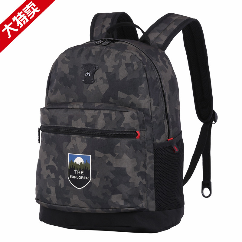 Swiss suissewin leisure thickened lightening camouflage outdoor backpack counter authentic large capacity Backpack