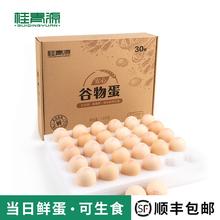 【桂青源】安心谷物鸡蛋30枚A级无菌