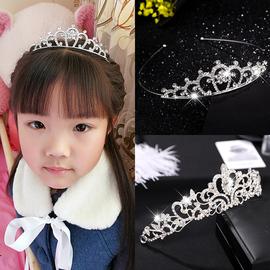 儿童皇冠头饰公主小女孩过生日王冠发箍韩版水钻珍珠发梳发卡发饰图片