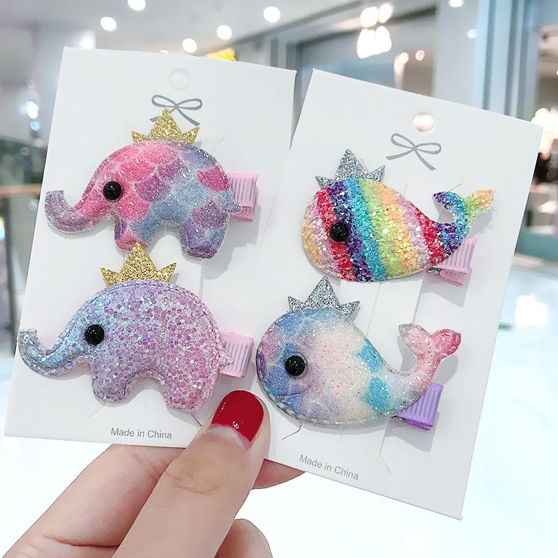韩国超萌可爱动物女童不伤发刘海夹满6.80元可用2元优惠券