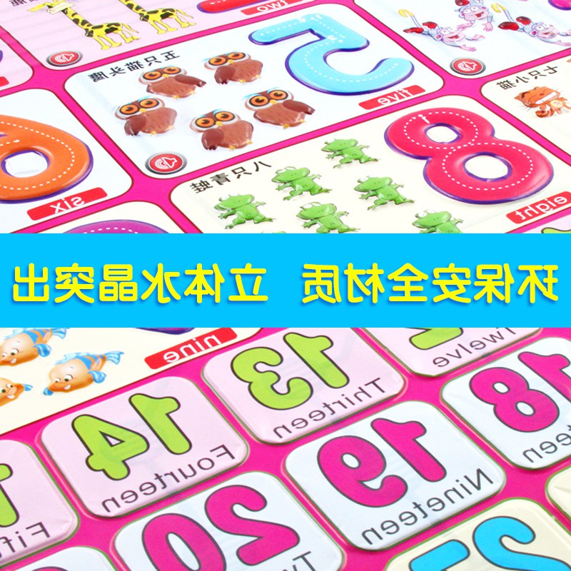 阔步宝宝早教有声挂图墙贴拼音幼儿童识字发声语音启蒙0-3岁玩具