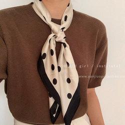 复古法式波点丝巾