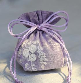 中药香囊皮空袋刺绣纱仿麻包装袋