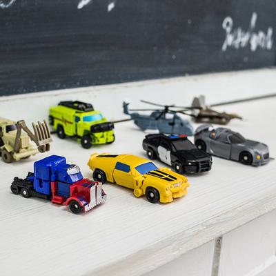 蒙巴迪迷你小变形玩具金刚大黄蜂口袋正版男孩益智力拼装汽车人