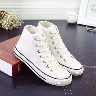 日本购春季低帮白色帆布鞋女小白鞋子韩版休闲平底板鞋学生球鞋情