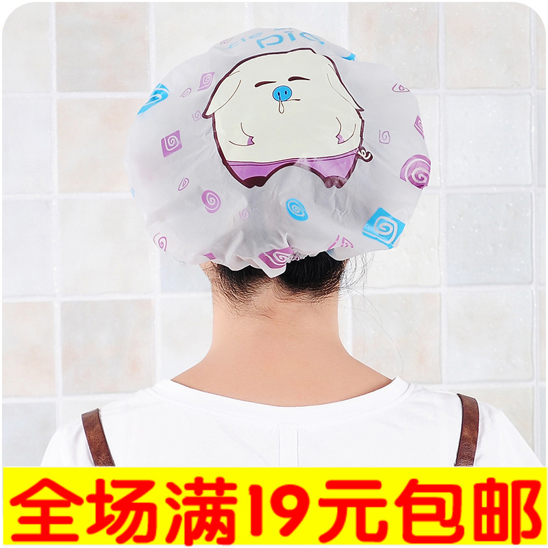 Милый мультики ванна крышка купаться головной убор шляпа головной убор крышка сухие волосы шапочка для душа водонепроницаемый взрослых женщин модель душ