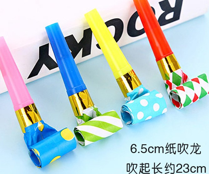 派对塑料吹吹卷玩具吹龙口哨儿童宝宝庆生生日派对布置助兴喇叭