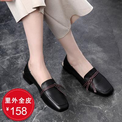 真皮女鞋软皮舒适头层牛皮女式软底软面小皮鞋春秋2021新款单鞋女