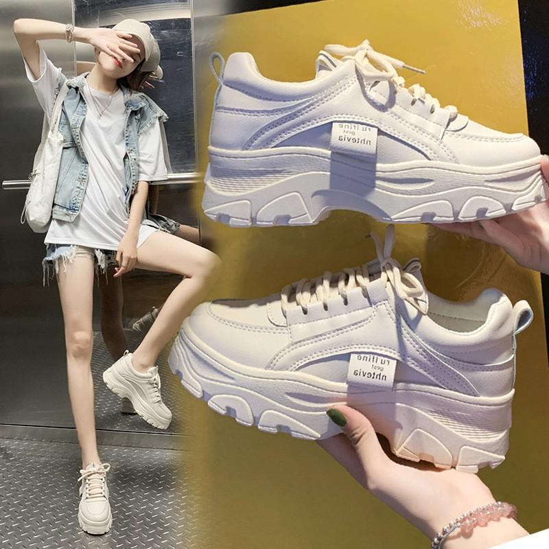 2021秋冬季新款韩版老爹鞋女学生百搭运动鞋女休闲厚底增高鞋子