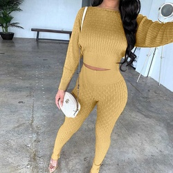 EBay European and American women's sweater two piece suit