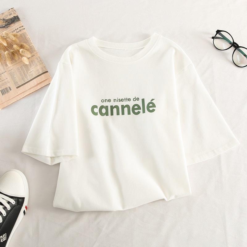 可爱短袖T恤女2020年夏季流行女装新款韩系少女穿搭甜美上衣港风