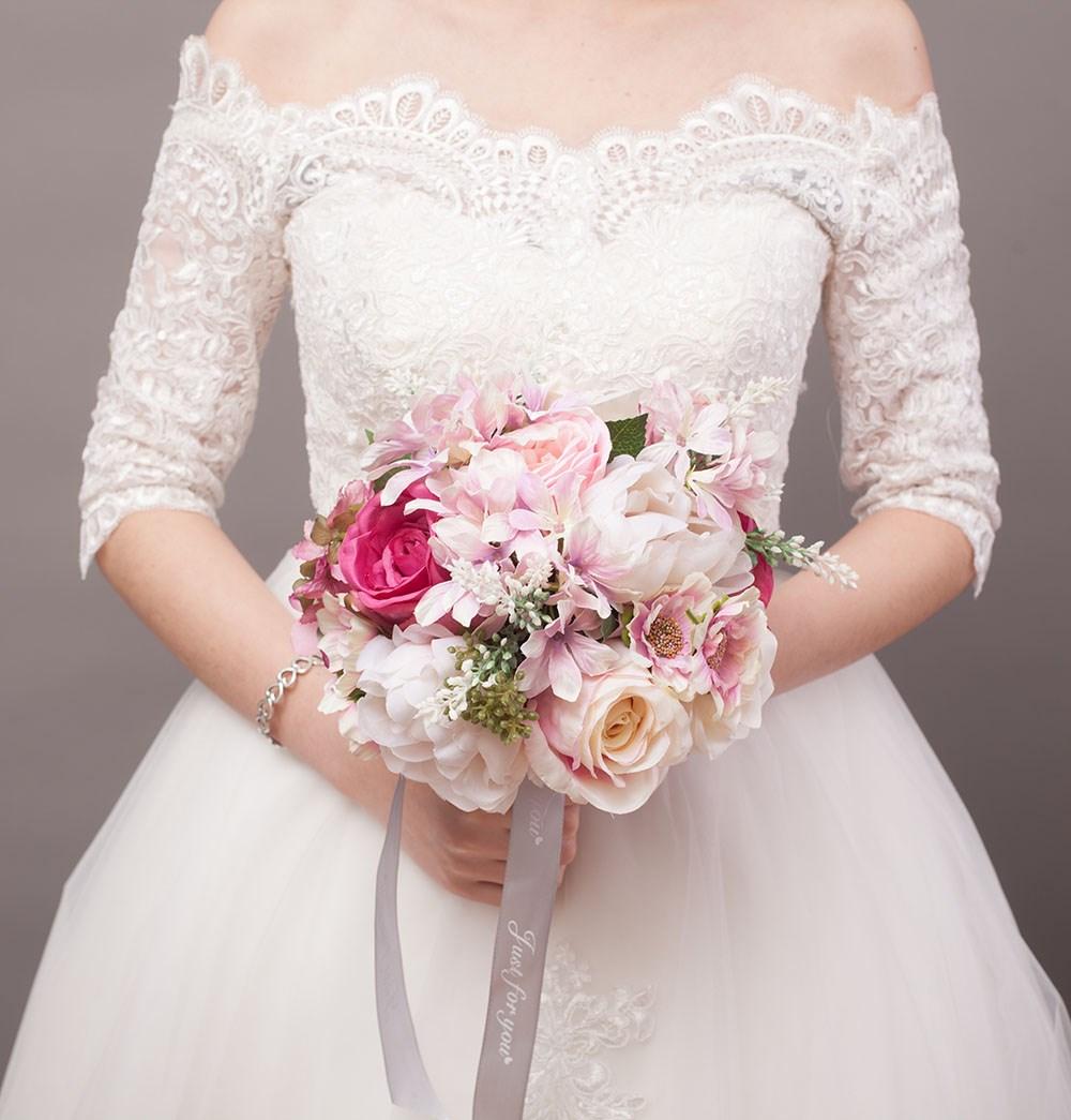 手工新娘手捧花高档婚礼婚庆用品结婚照影楼玫瑰外景仿真婚纱伴娘