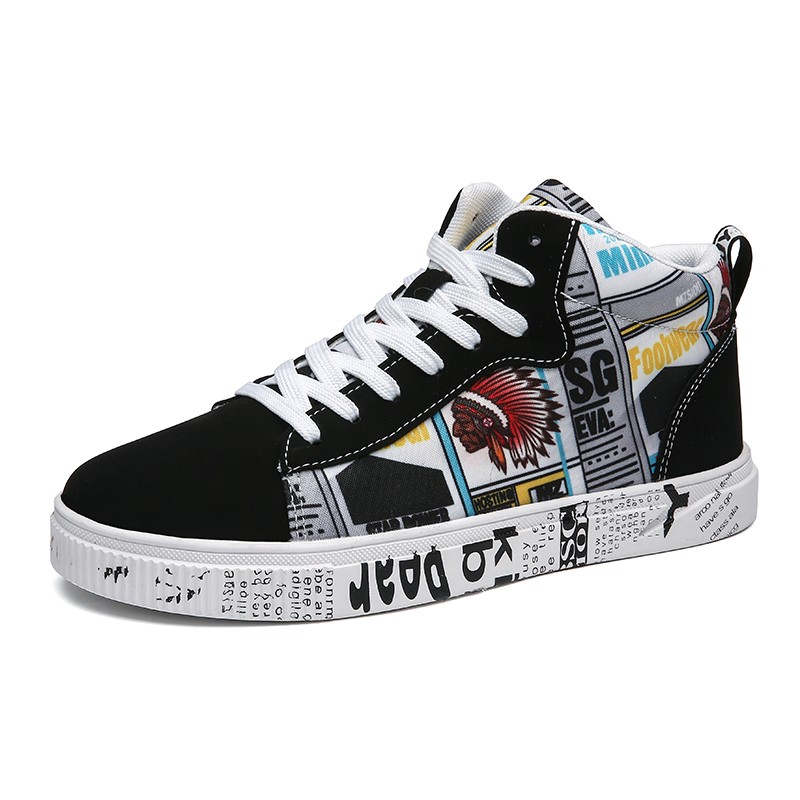 361 foot King autumn new pattern canvas shoes mens high top fashion 47 casual mens shoes 45 extra large 46