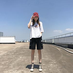 bf风工装春秋2019新款韩版宽松短裤