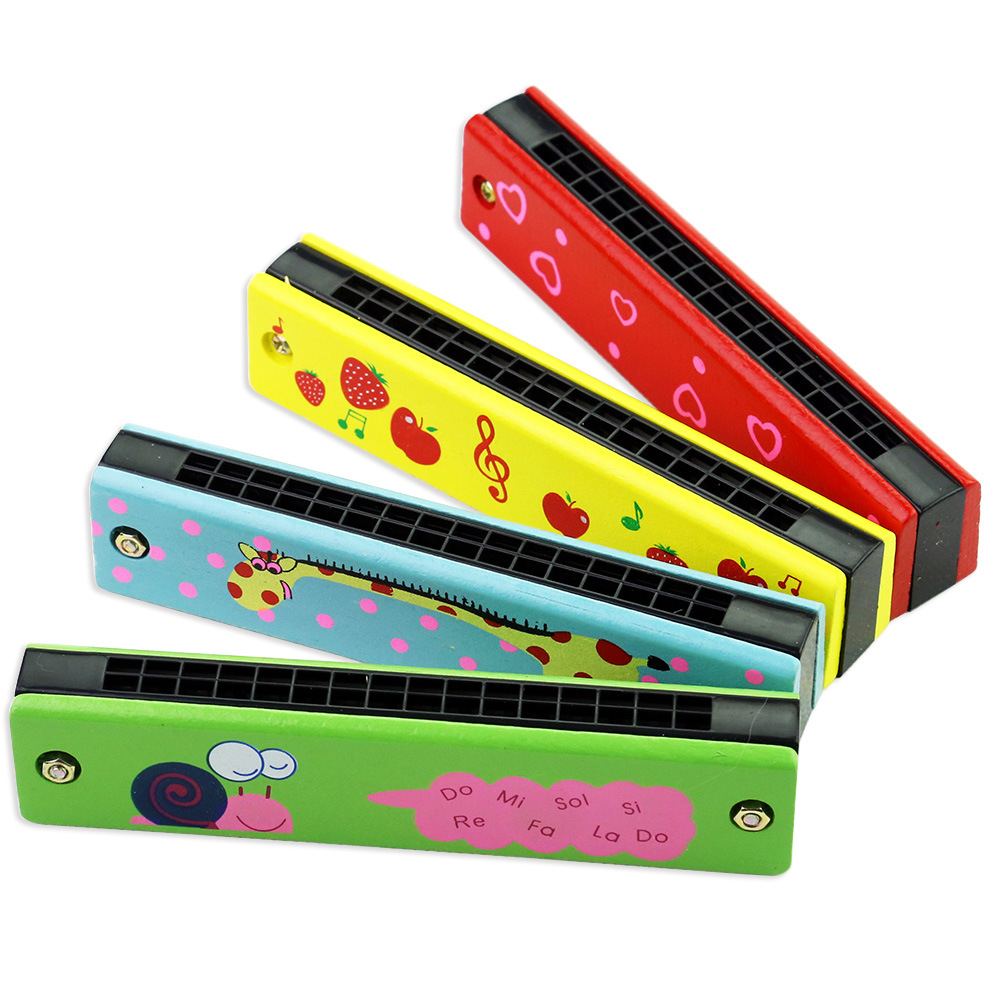 Childrens harmonica 16 hole double row cartoon toys 3-6 years old playing musical instruments primary school harmonica kindergarten boys and girls