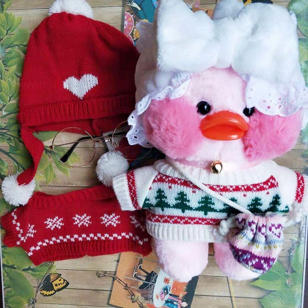 网红玻尿酸鸭公仔配饰衣服30cm鸭子玩偶帽子配件少女心礼物.