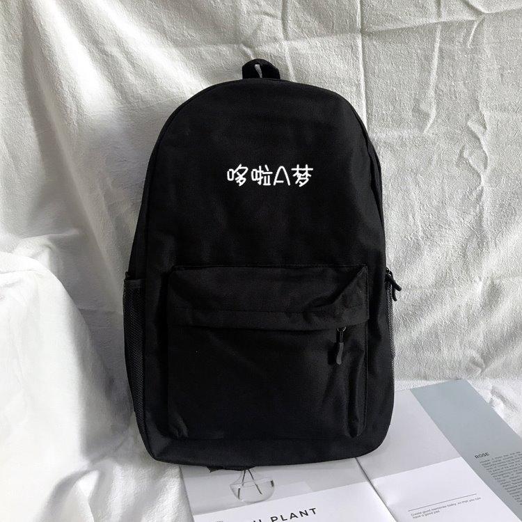 哆啦a梦书包女学生韩版 学院风双肩包 校园初中生补课包男大容量