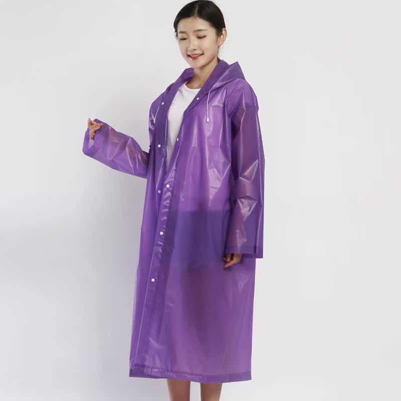 成人防水透气雨披个性雨衣女装透明时尚便携男女雨具户外旅游徒步