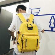 ifashion书包男ins潮酷原宿风 双肩包女韩版校园背包15.6寸电脑包