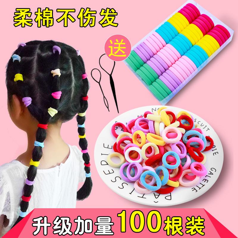 儿童发饰韩国可爱女孩无缝发绳弹力不伤发皮筋发圈扎头发头绳头饰