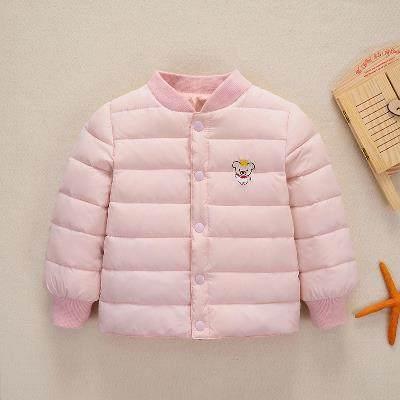 儿童棉衣 8到10个月2至3周岁半宝宝外套加厚女童男童装韩版棉内胆