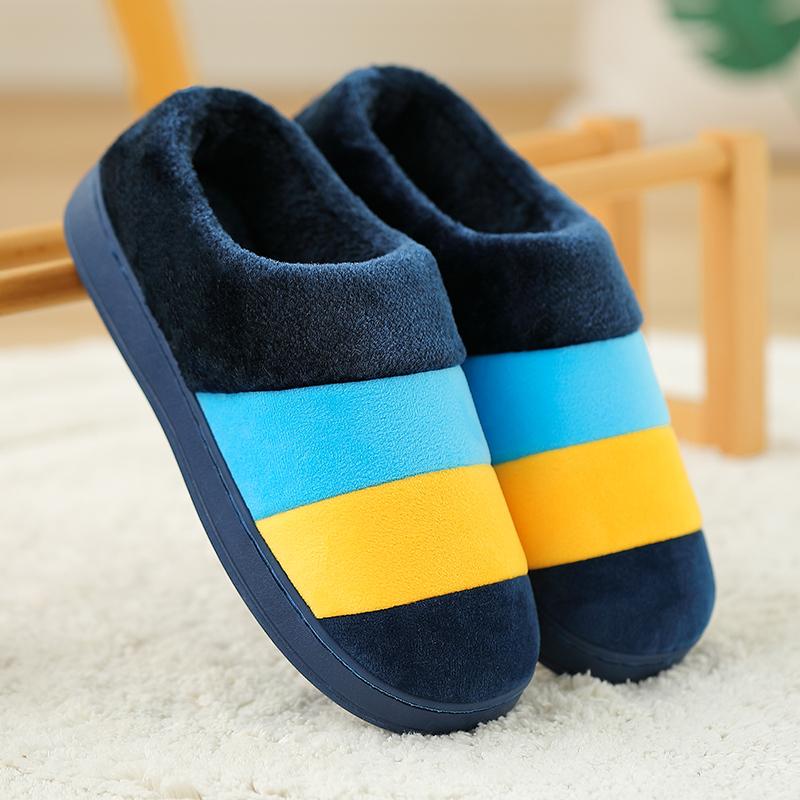 秋冬季男士棉拖鞋室内女包跟特大码居家用46厚底47保暖防滑拖鞋男