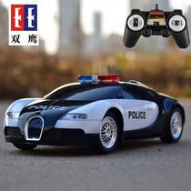 双鹰电动遥控汽车大号超跑警车越野仿真模型男孩儿童6789岁玩具车