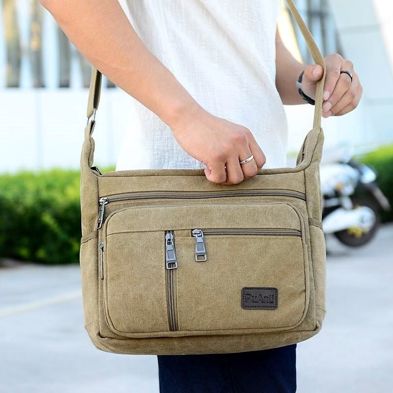 Mens bag single shoulder Crossbody business mens and womens handbags leisure travel canvas bags young peoples purses cross small