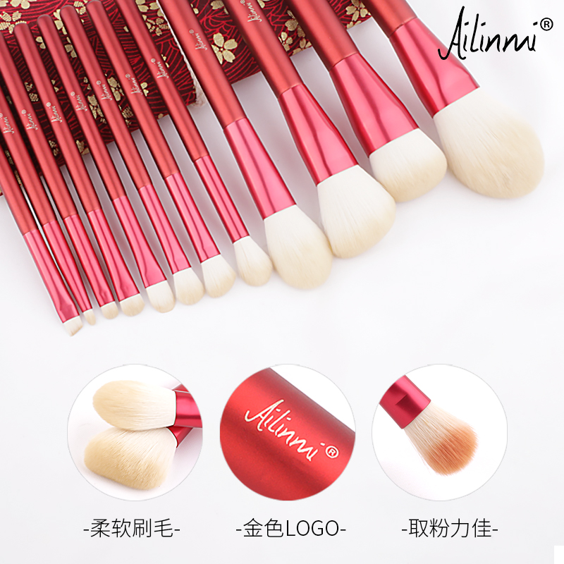 Aileen mi /ailinmi snow makeup makeup brush, Beijing snow white makeup brush, powder brush, eye shadow brush, blush brush.