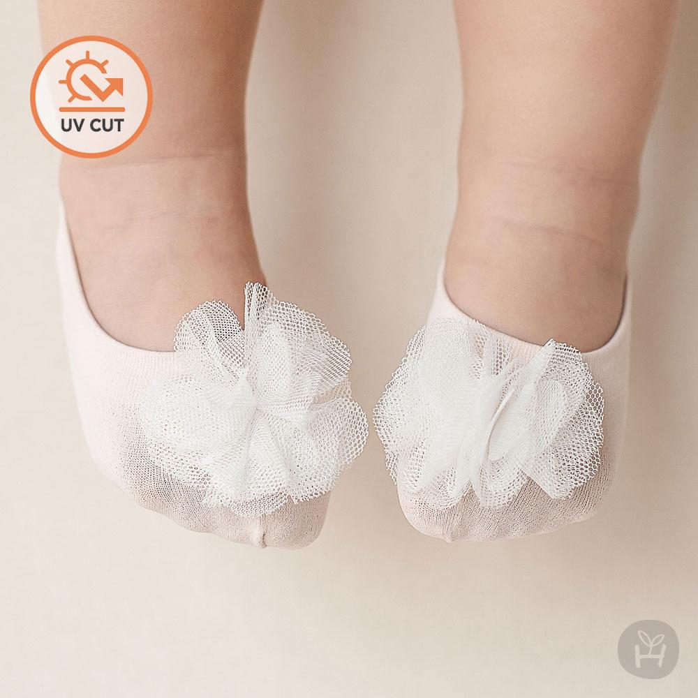 韩国进口婴儿童地板船袜女宝宝百天周岁拍照鞋袜公主纱花芭蕾袜子