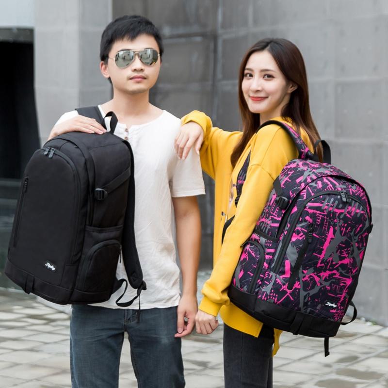 ins超火的双肩包女2019新款背包 电脑包学生书包男旅行包女大容量