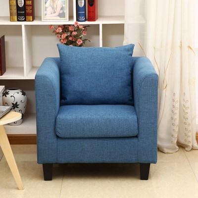新品时尚简约小户型皮质布艺单双人沙发小围椅 酒店咖啡办公网吧