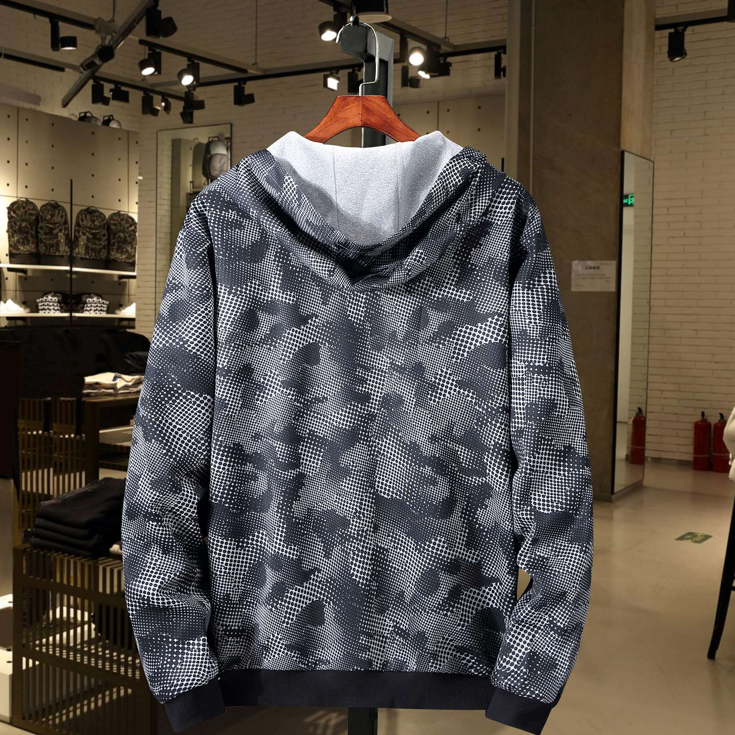 10xl autumn coat mens loose hooded jacket Student Korean large plus fat high school student oversized mens wear