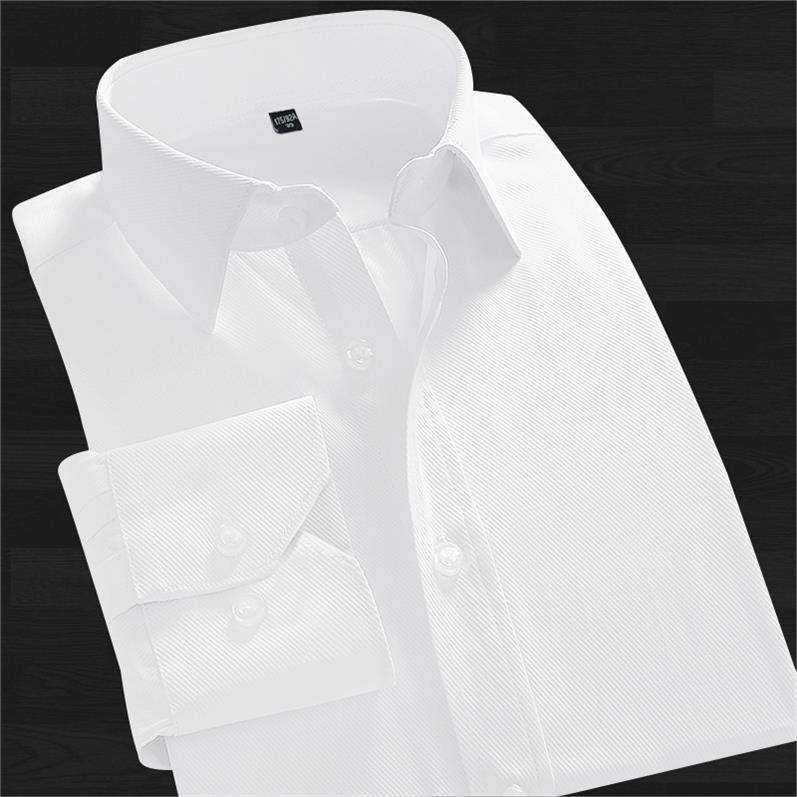 ? Youth professional white shirt mens formal dress solid color shirt pocket less work shirt business easy wear long sleeve inch
