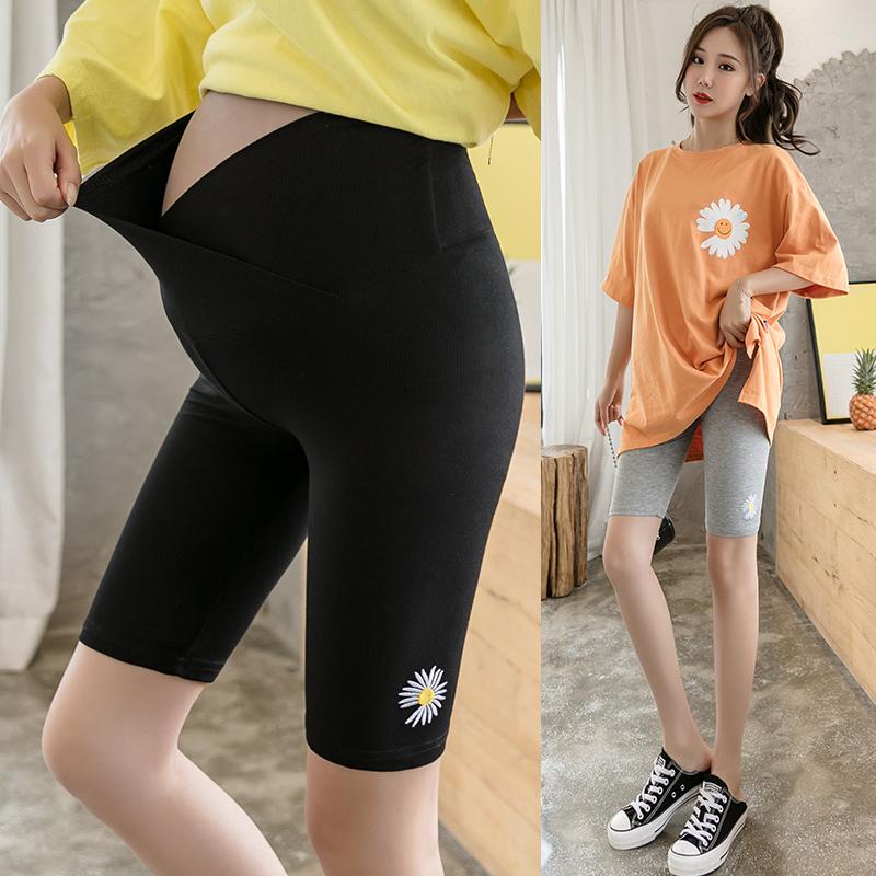 防辐射正品孕妇裤子夏季时尚薄款外穿五分短裤夏装纯棉孕妇打底裤