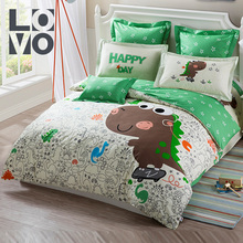 Lovo Home Textile Children's Full Cotton Quilt Set Pure Cotton Cartoon Three/Four Kit Bedding for Boys and Girls