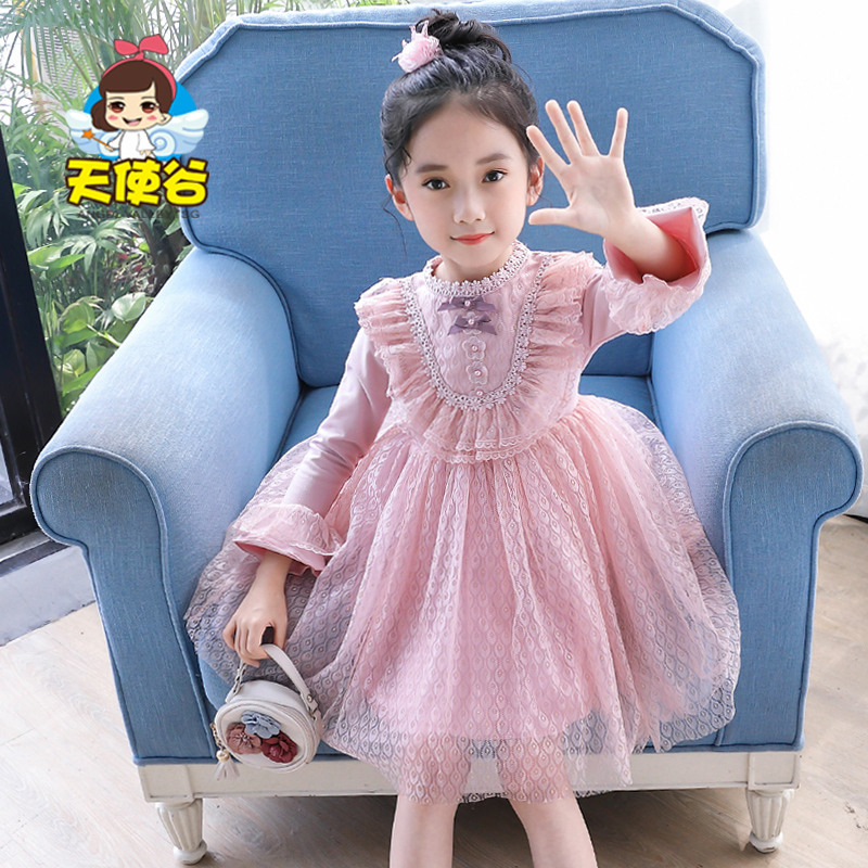 Girls' dress spring and autumn 2020 new children's dress autumn and winter little girl's spring Princess Dress spring