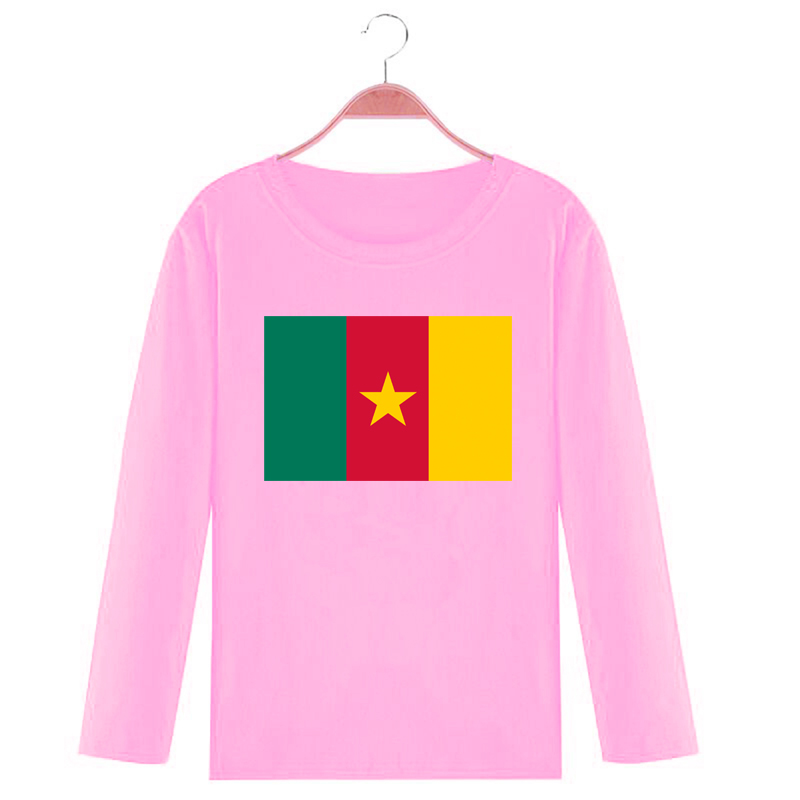 Childrens versatile T-shirt foreign style cotton long sleeve multicolor childrens wear with macaroni flag pattern