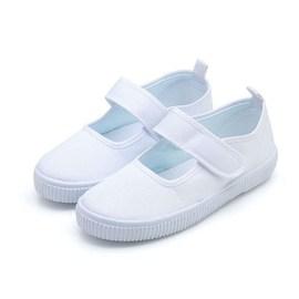 中小童纯白鞋幼儿园小白鞋布鞋小学生舞蹈男童儿童节女童演出白鞋