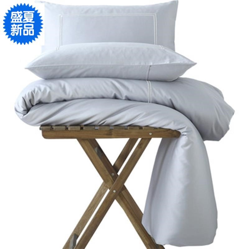 Pure cotton all own four in one piece simple Satin Embroidery empty lencier Carter bed middle cotton cover