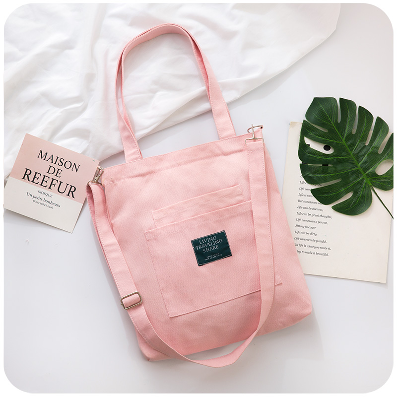 Canvas bag environmental protection student party zipper art accessories portable lady big children schoolbag small fresh ethnic style slant