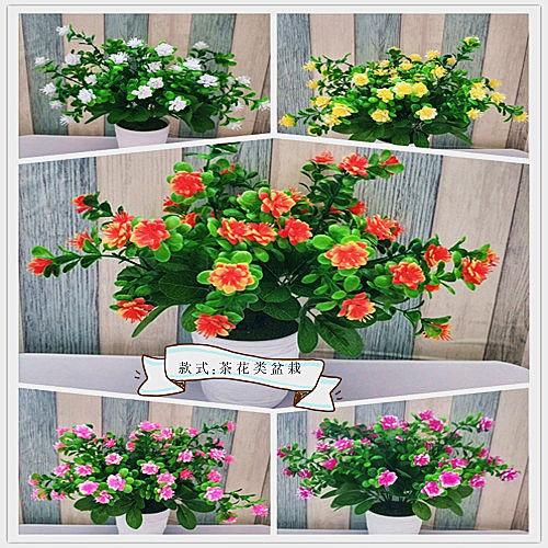 地面室内外尤加利花车蓝玫瑰仿真花假花装饰客厅田园花果新中式