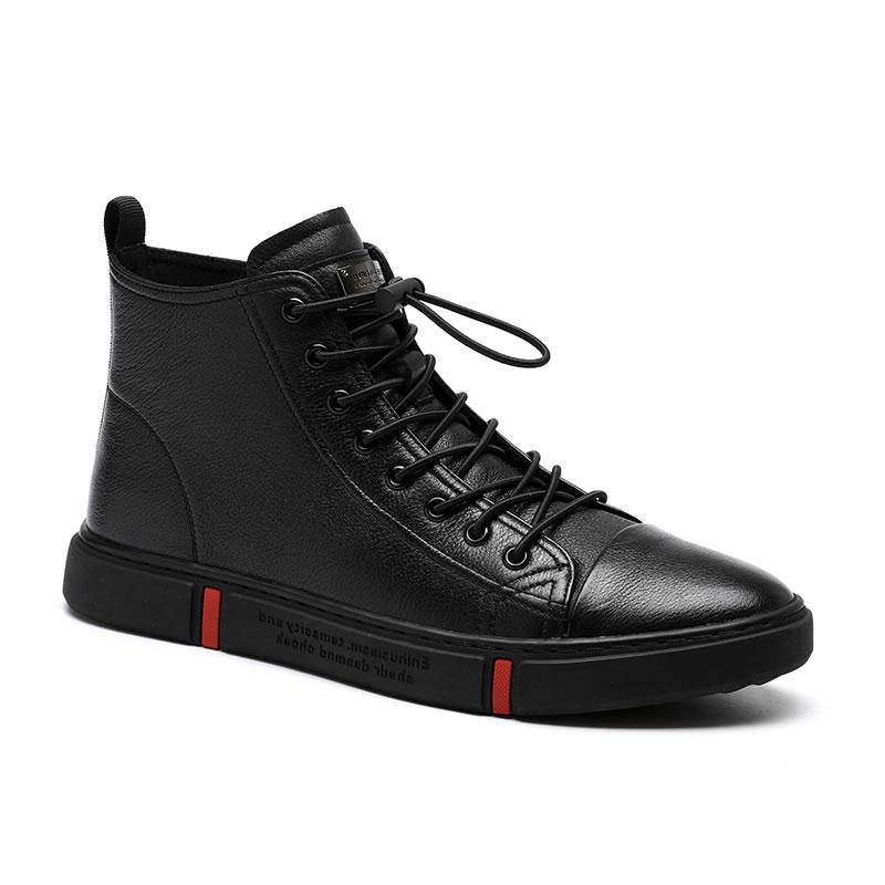 Japanese wh mens shoes winter fashion shoes high top board shoes leather mens casual shoes fashion mens high top leather shoes Plush protection
